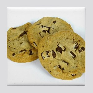 chocolate chip cookies photo Tile Coaster