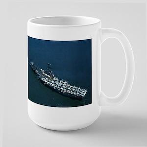 USS Oriskany Ship's Image Large Mug