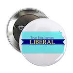"""2.25"""" Button (10 pack) True Blue Kansas LIBERAL"""