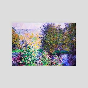 Monet Garden Montgeron Low Poly 4' x 6' Rug