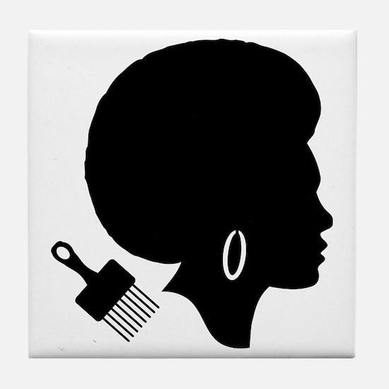 Cute Hair dresser Tile Coaster