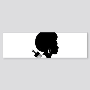 vintage black afro american woman Bumper Sticker
