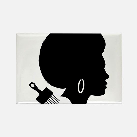 vintage black afro american woman Magnets