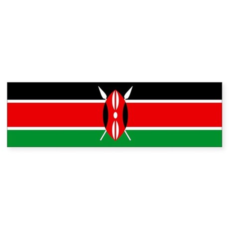 """Kenya Flag"" Bumper Sticker"