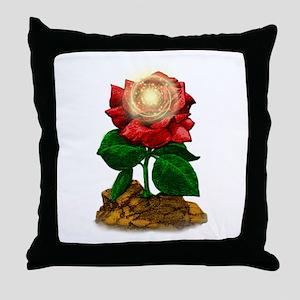 Rose & Universe Throw Pillow