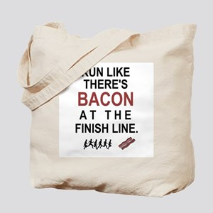 Will Run for Bacon Tote Bag