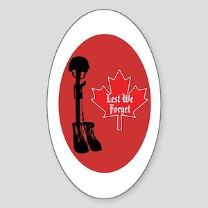 Canadian fallen soldiers Oval Sticker