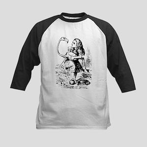 vintage alice in wonderland black Baseball Jersey