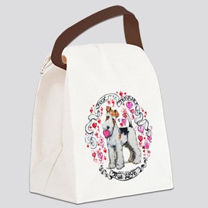 Fox Terrier Sweetheart Canvas Lunch Bag