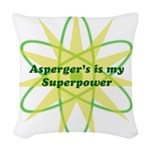 Aspie Superpower Woven Throw Pillow