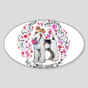 Fox Terrier Sweetheart Sticker (Oval)