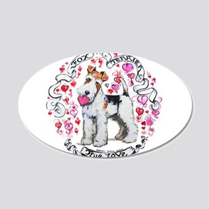 Fox Terrier Sweetheart 20x12 Oval Wall Decal