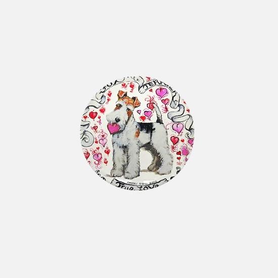 Fox Terrier Sweetheart Mini Button