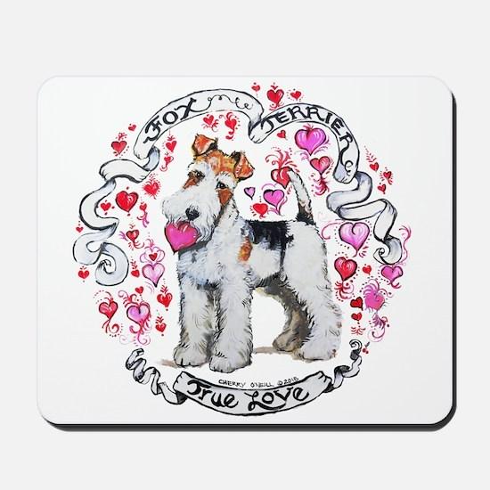 Fox Terrier Sweetheart Mousepad