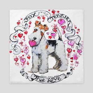 Fox Terrier Sweetheart Queen Duvet