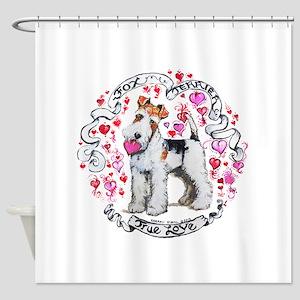 Fox Terrier Sweetheart Shower Curtain