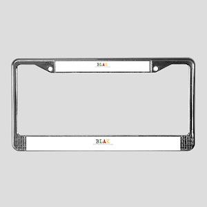 Blak License Plate Frame