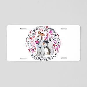 Fox Terrier Sweetheart Aluminum License Plate