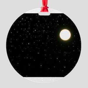 black moon night stars Round Ornament