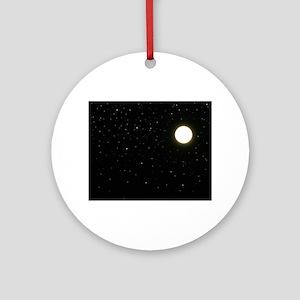 black moon night stars Ornament (Round)
