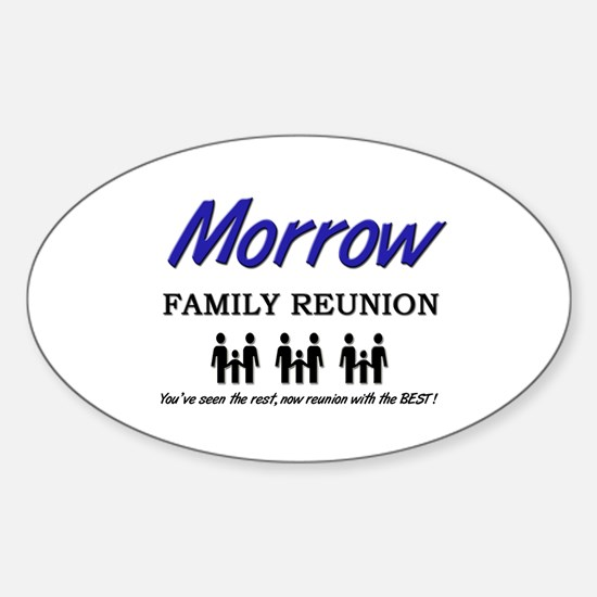 Morrow Family Reunion Oval Decal