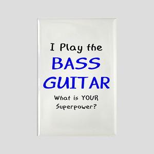 play bass guitar Rectangle Magnet