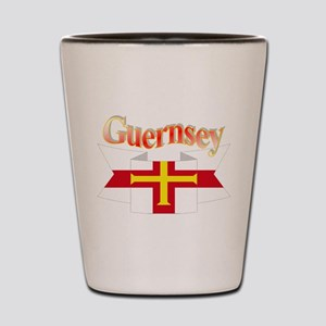 Guernsey ribbon Shot Glass