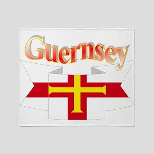 Guernsey ribbon Throw Blanket