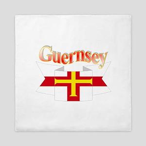 Guernsey ribbon Queen Duvet