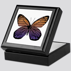 Orange Purple Butterfly Keepsake Box