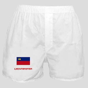 Liechtenstein Flag Retro Red Design Boxer Shorts