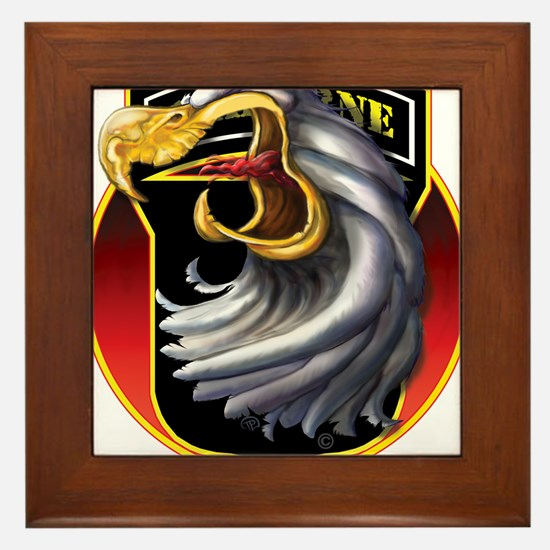 Screamin' Eagles Badge Framed Tile