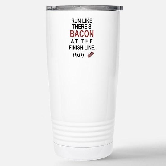 Will Run for Bacon Stainless Steel Travel Mug