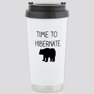 Time to Hibernate Stainless Steel Travel Mug