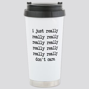 Don't Care Stainless Steel Travel Mug