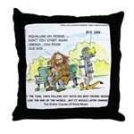 Aqualung My Ex-Friend Throw Pillow