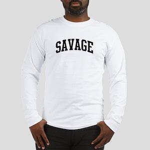 SAVAGE (curve-black) Long Sleeve T-Shirt