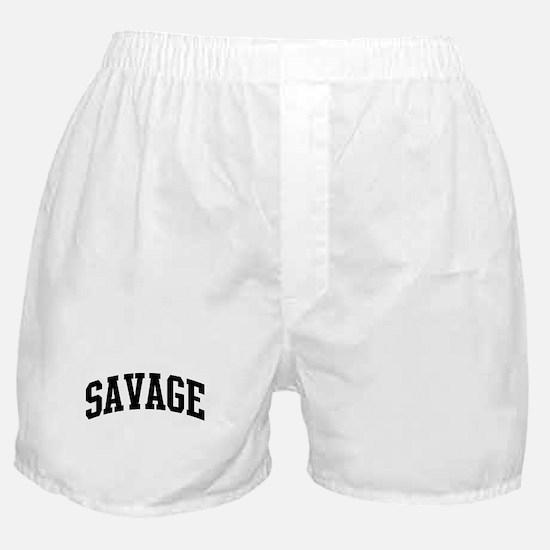 SAVAGE (curve-black) Boxer Shorts