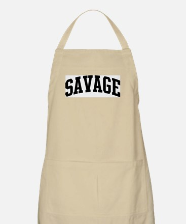 SAVAGE (curve-black) BBQ Apron