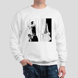 1920s vintage flappers black white draw Sweatshirt