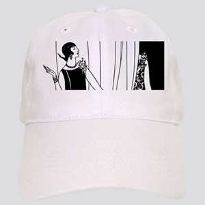1920s vintage flappers black white drawing Cap