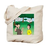 Tent Pitching Tote Bag