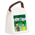 Tent Pitching Canvas Lunch Bag