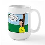 Tent Pitching Large Mug