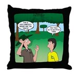 Tent Pitching Throw Pillow