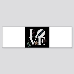 Love - Beach Bumper Sticker