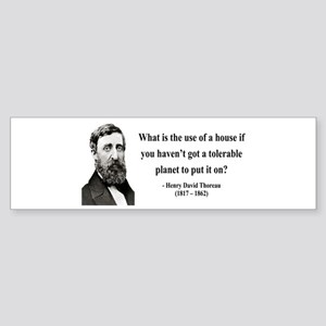 Henry David Thoreau 19 Bumper Sticker