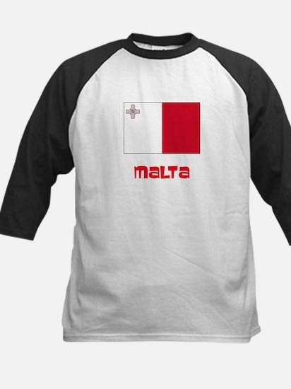 Malta Flag Retro Red Design Baseball Jersey