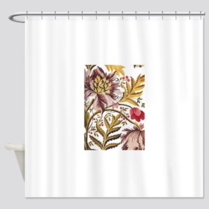 Leaf Flower Java Batik Shower Curtain