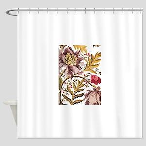 Leaf Flower Java Batik Shower Curtain